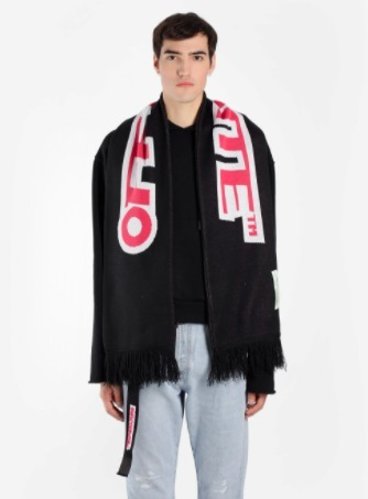 18SS OFF-WHITE TEMPERATURE マフラー