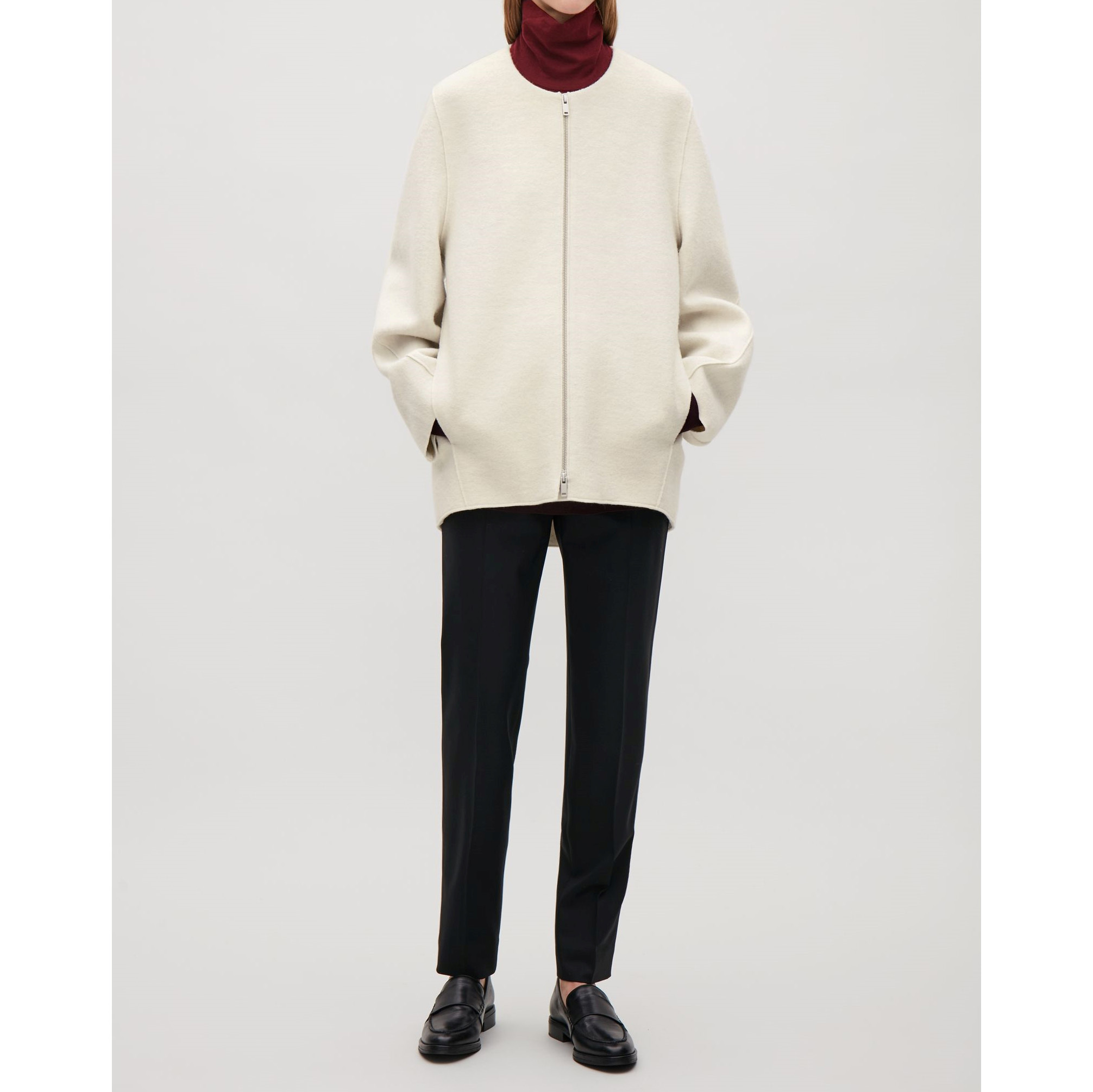 COS☆WOOL COCOON JACKET / ivory