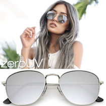 全5色*zeroUV*MODERN SLIM MIRRORED FLAT LENS SQUARE SUNGLAS