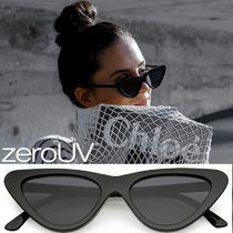 全5色*zeroUV*RETRO 1990'S SHALLOW FLAT LENS CAT EYE SUNGLAS