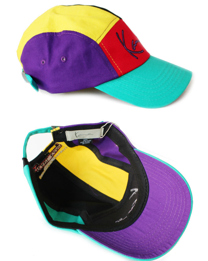 海外限定モデル Karl Kani 90s 5 Panel Multi Color Cap