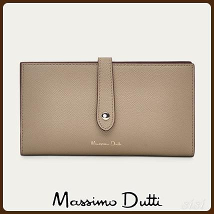 MassimoDutti♪LEATHER WALLET WITH TWO-TONE DETAIL