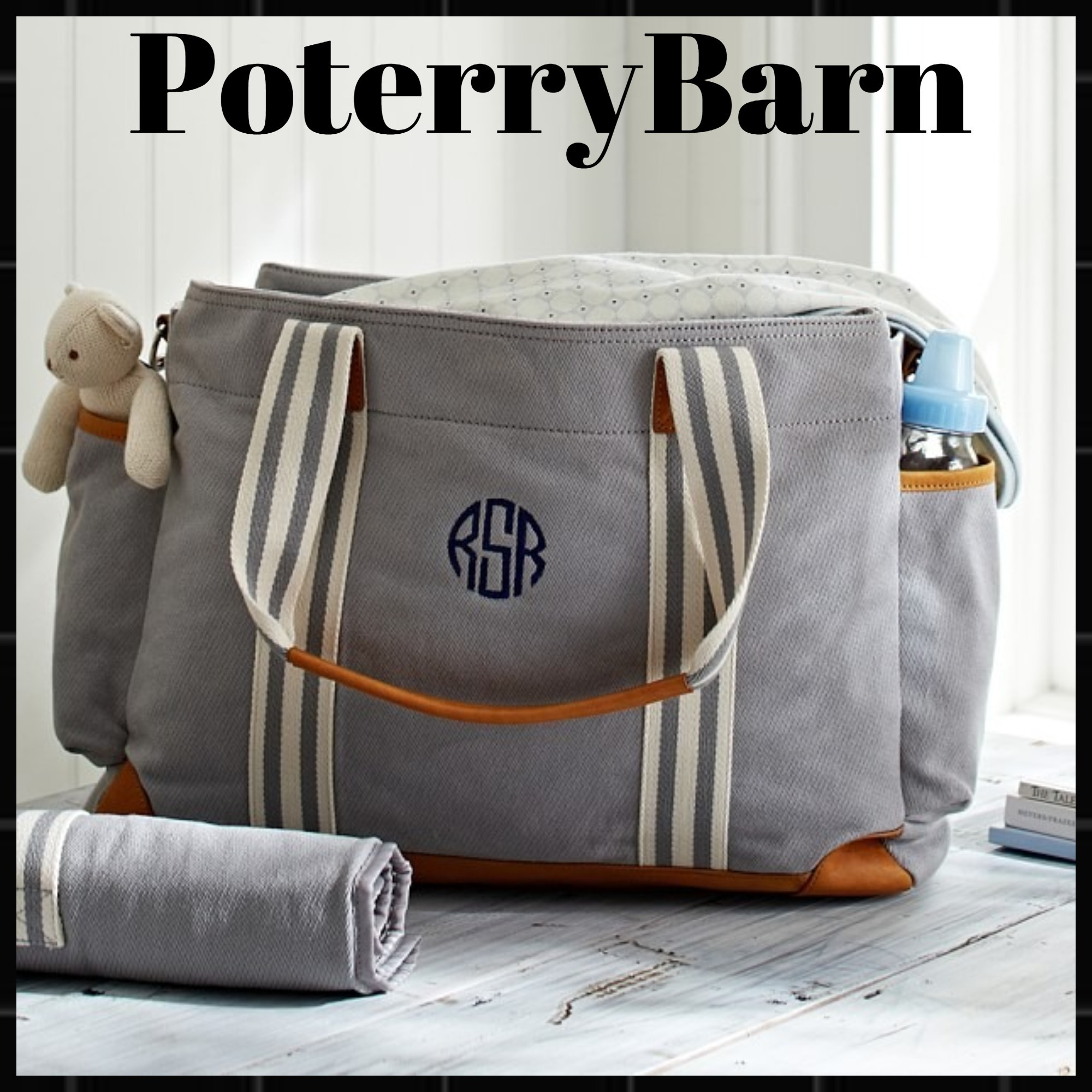 芸能人ママさん御用達☆Pottery Barn Gray Classic Diaper Bag