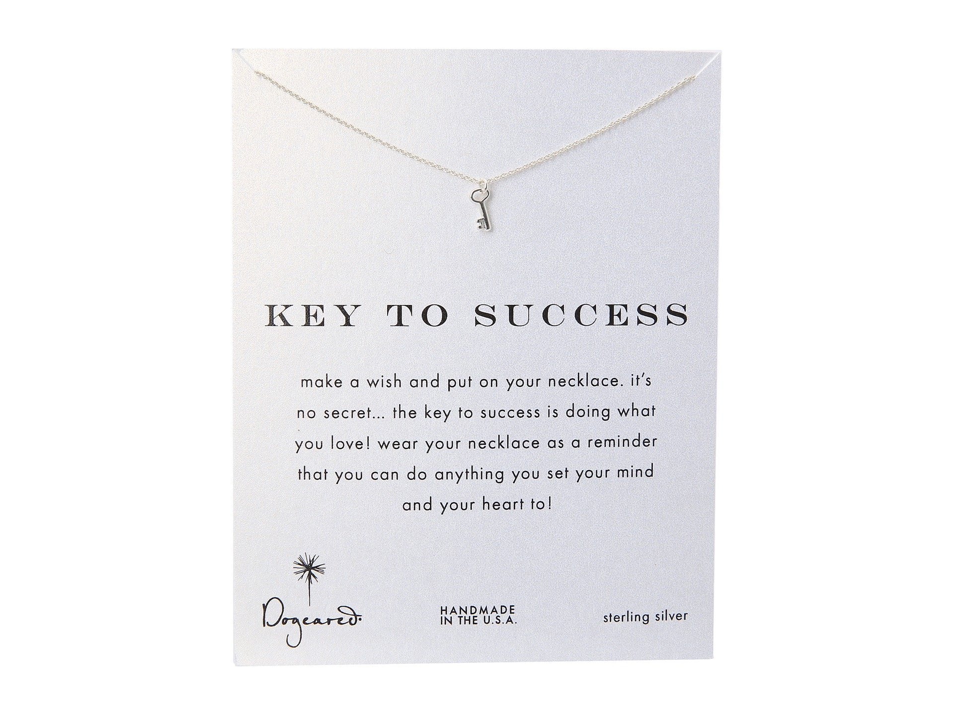 "Dogeared★Key To Success Necklace 16""▽送料関税込"