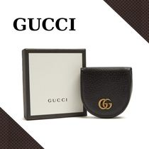 GUCCI GG Marmont grained-leather コインケース