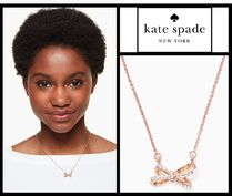 【即発】★  Tied up pave bow pendant ★ Kate Spade ★