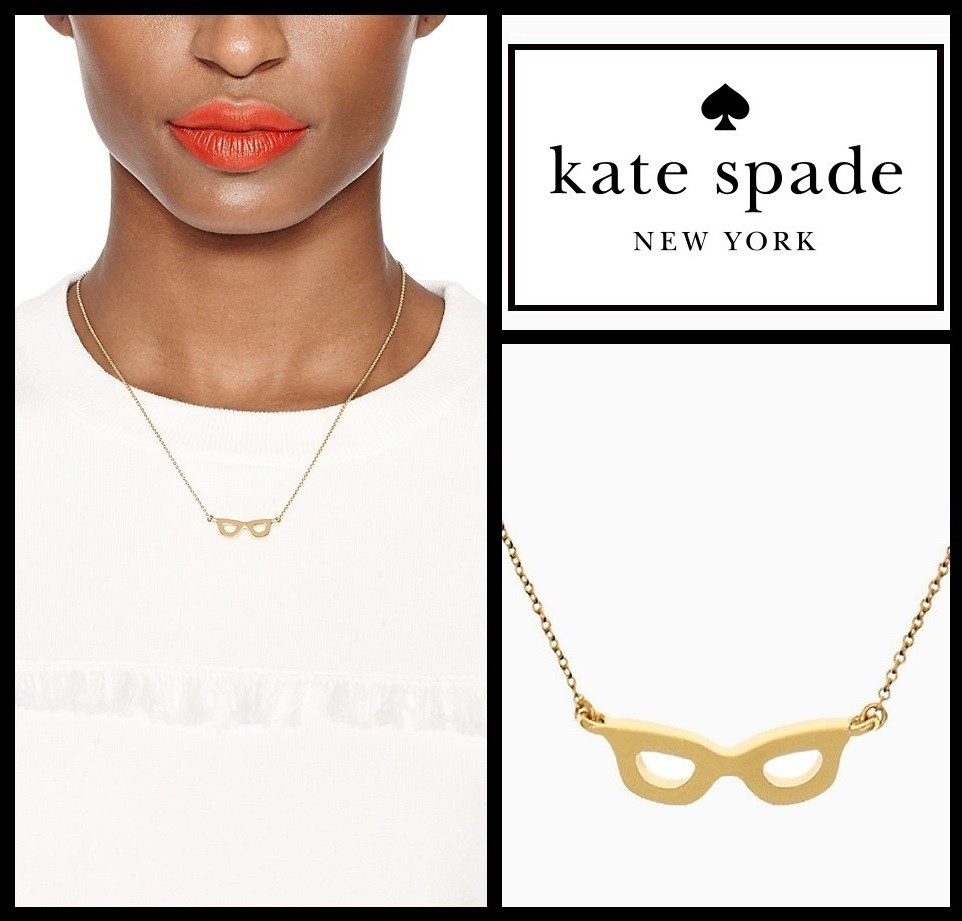 【即発】★  Lookout glasses mini pendant ★ Kate Spade ★