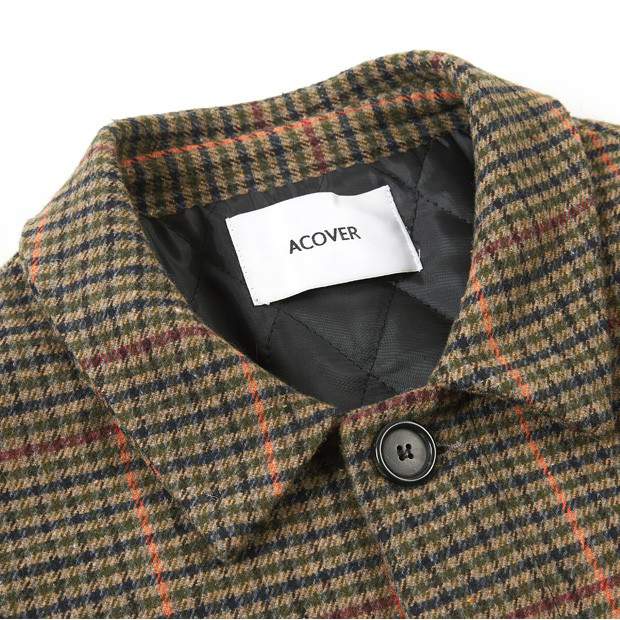 [ACOVER(オコボ) ] HIDDEN BUTTON MAC COAT