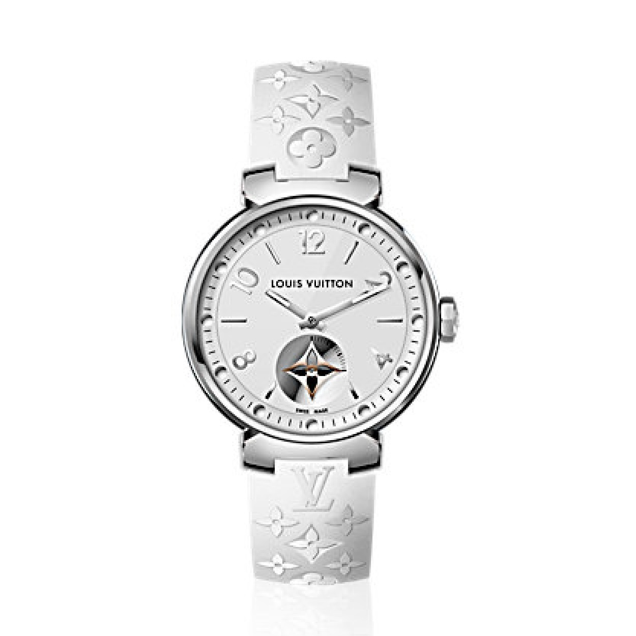 【Louis Vuitton】TAMBOUR MOON STAR 28 モノグラム ホワイト