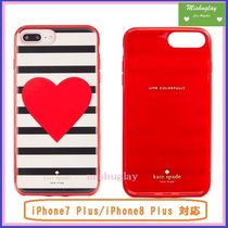 【kate spade】真っ赤な♡★Heart Stripe iPhone7/8 Plus★