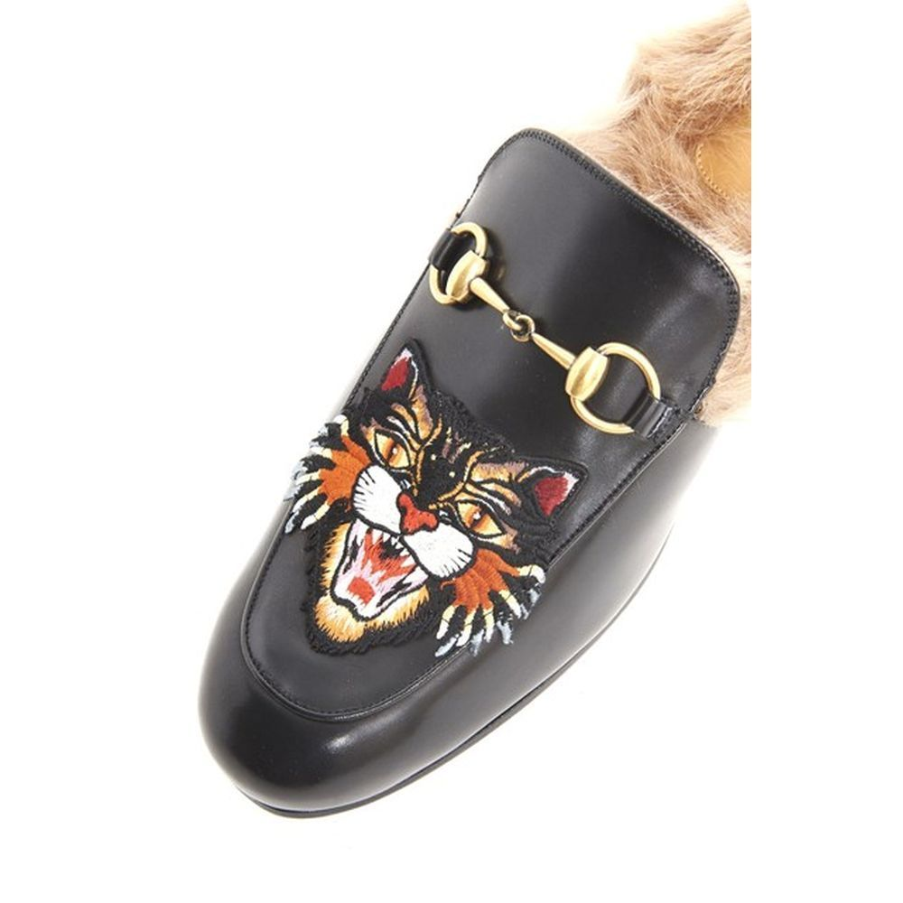 国内発送・関税込GUCCI  'PRINCE TOWN' CALF LEATHER SLIPPERS