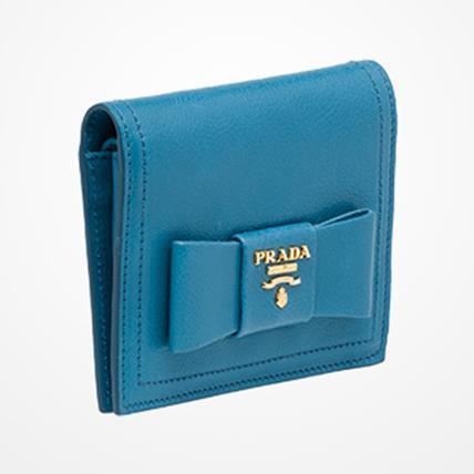 PRADAプラダ 1MV204 SMALL LEATHER 財布 WITH BOW