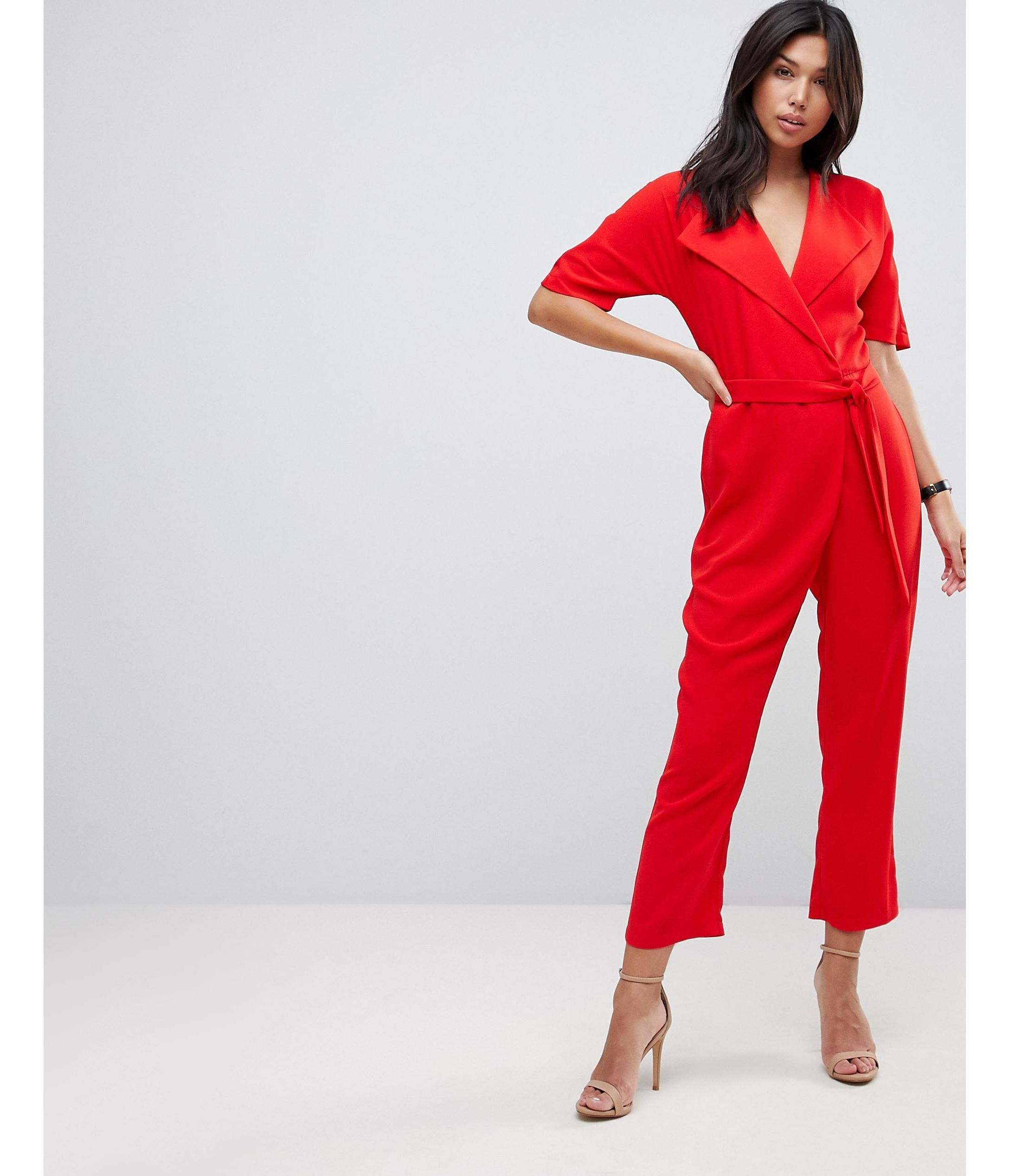 ★ASOS★ Wrap Jumpsuit  Self ベルト