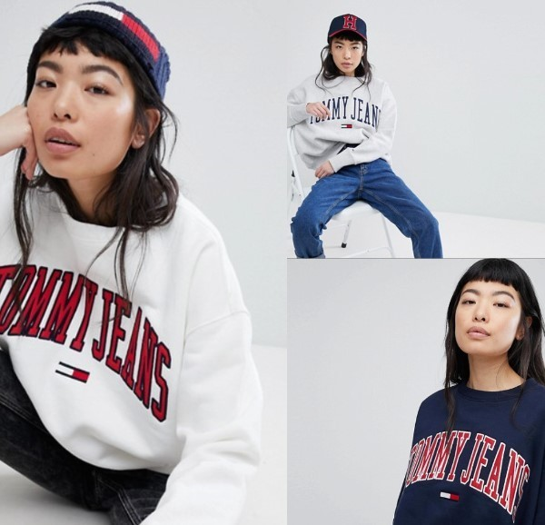 ★TOMMY JEANS★ Collegiate トレーナー / 3色