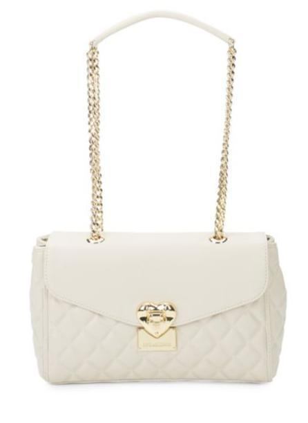 Love Moschino Heart Quilted Faux Leather Bag 送料関税込