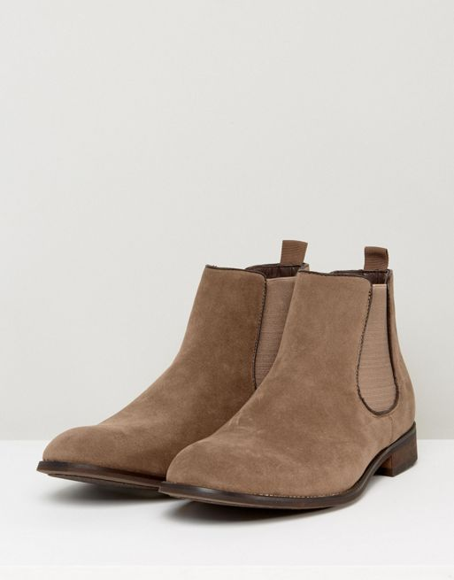 大人気! New Look Faux Suede Chelsea Boots In Stone ブーツ