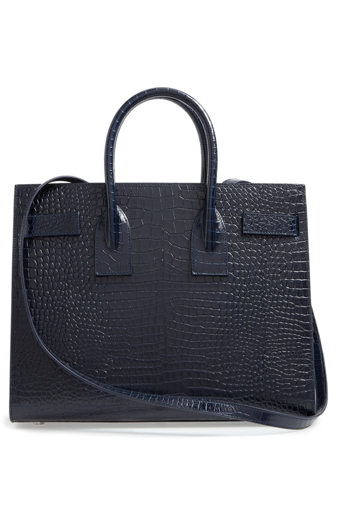 関税送料込 Saint Laurent Small Sac de Jour Croc Embossed  ♪