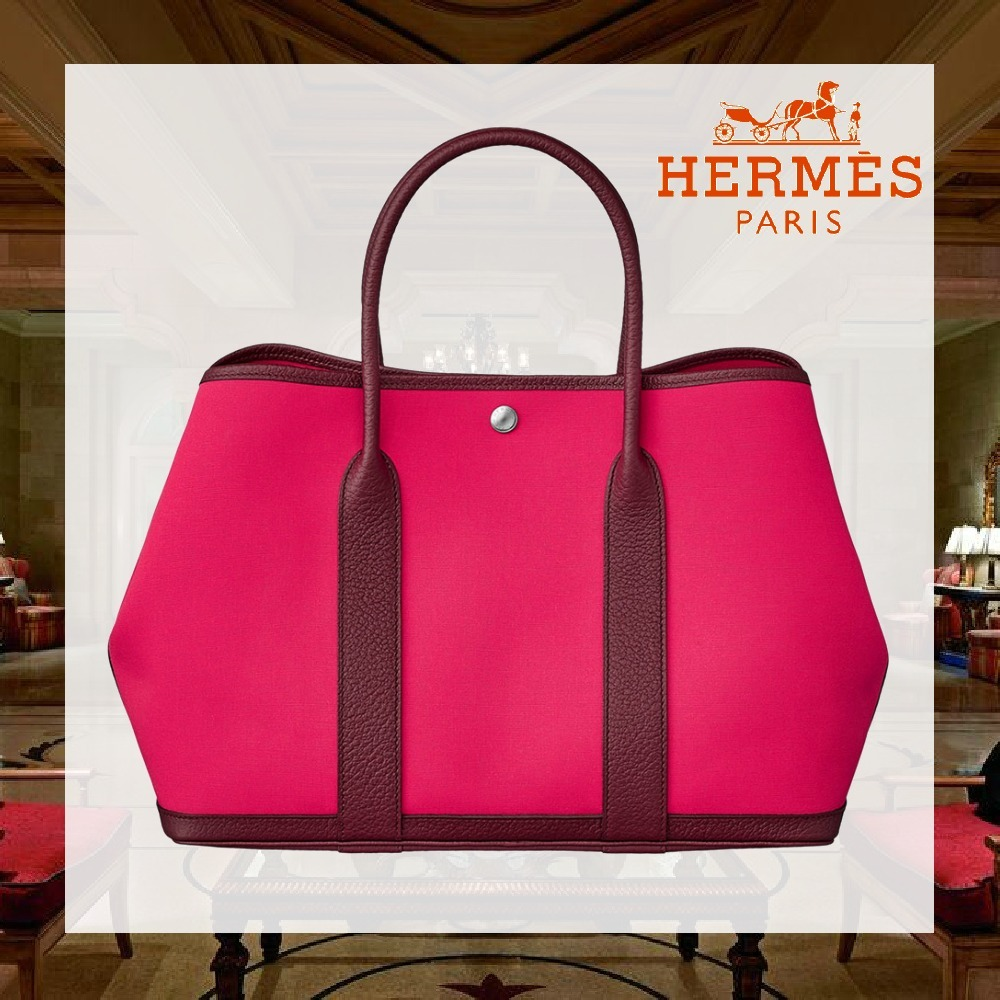 HERMES Garden Party 36 マザーズバッグ rose extreme/bordeaux