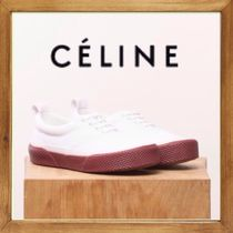 ★CELINE《セリーヌ》BURGUNDY AND WHITE SNEAKER 送料込み★