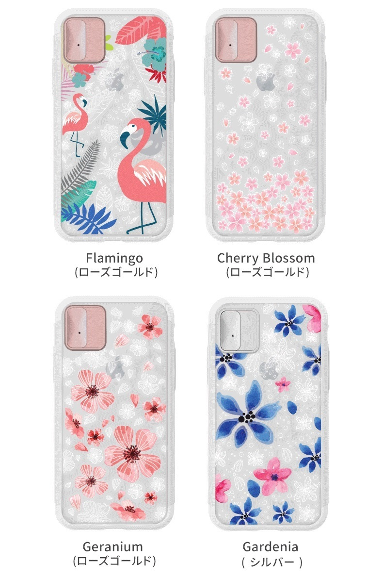 iPhone X ケース LIGHT UP CASE Lighting Shield Case Flower