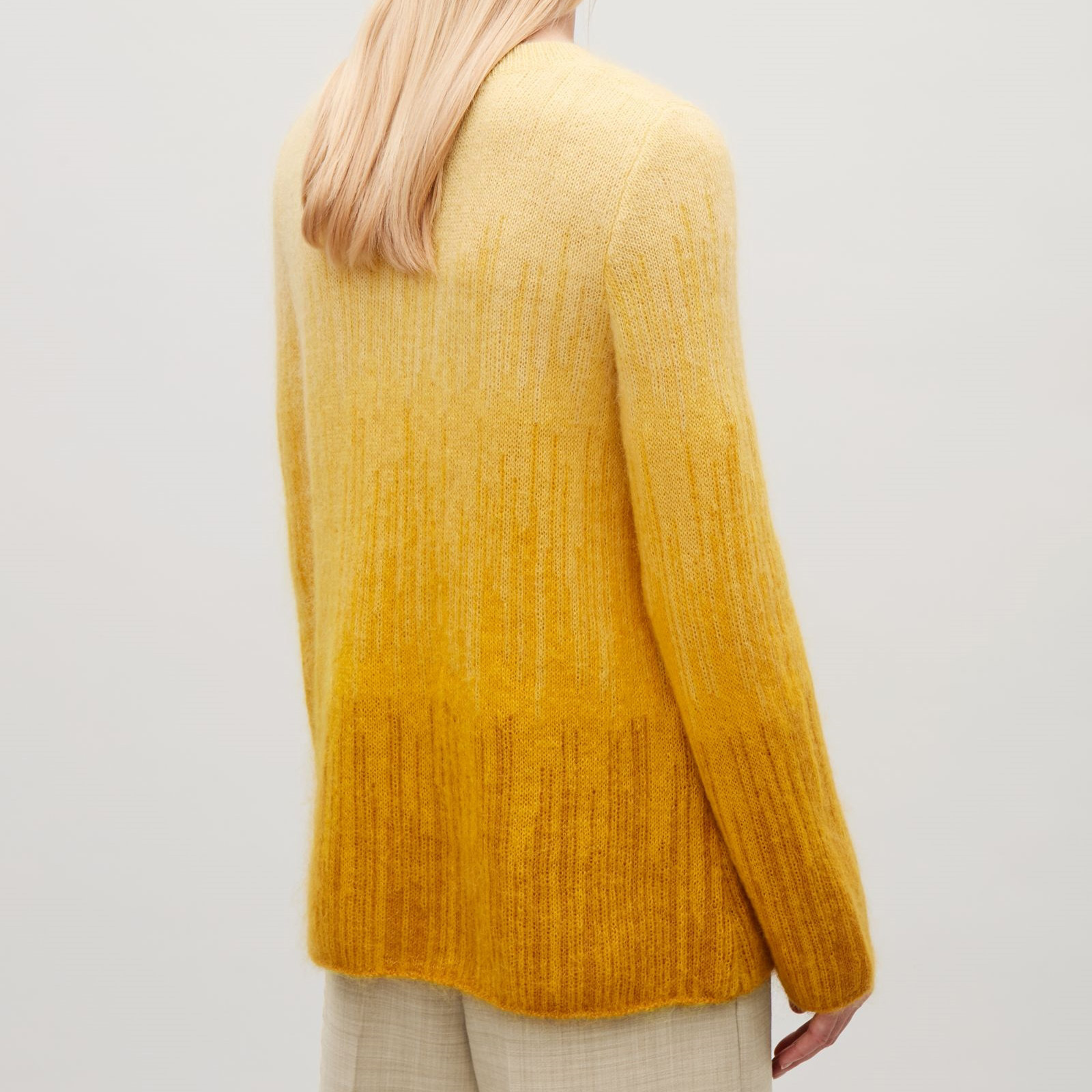 COS☆TONAL MOHAIR JUMPER / yellow
