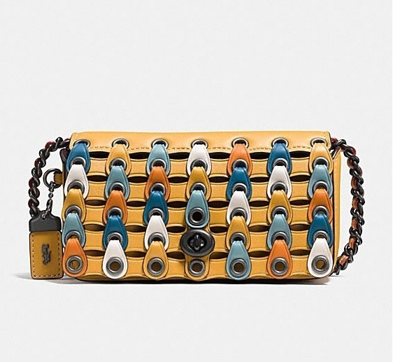 Coach ◆ 86832 Dinkier with colorblock coach link