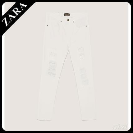 ☆ Men's ZARA☆ RIPPED JEANS WITH STUDS