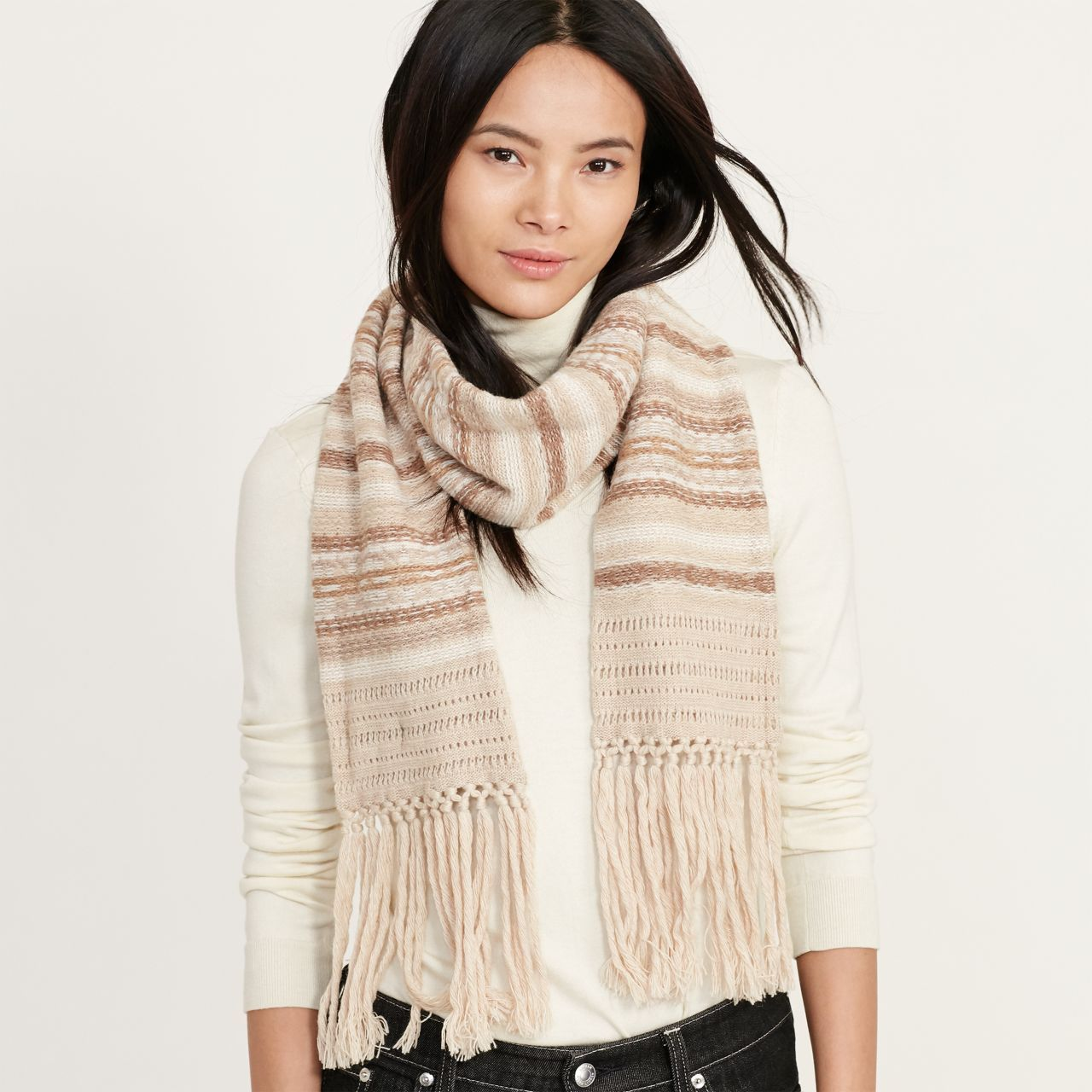 ○送料込○ Striped Fair Isle Scarf