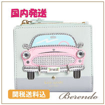 国内発送◆kate spade Checking in Pink Car Adalyn 財布