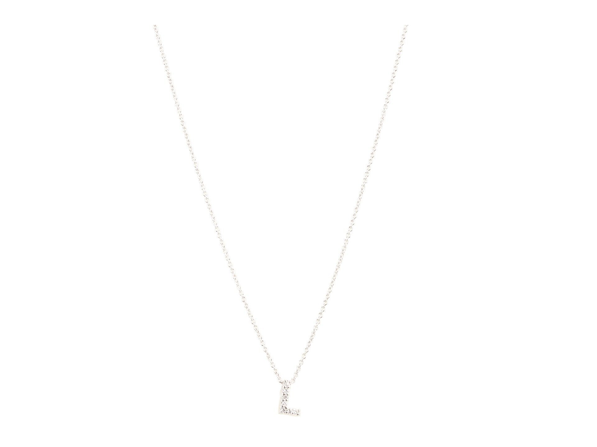 Roberto Coin★Diamond Initial Necklace▽送料関税込