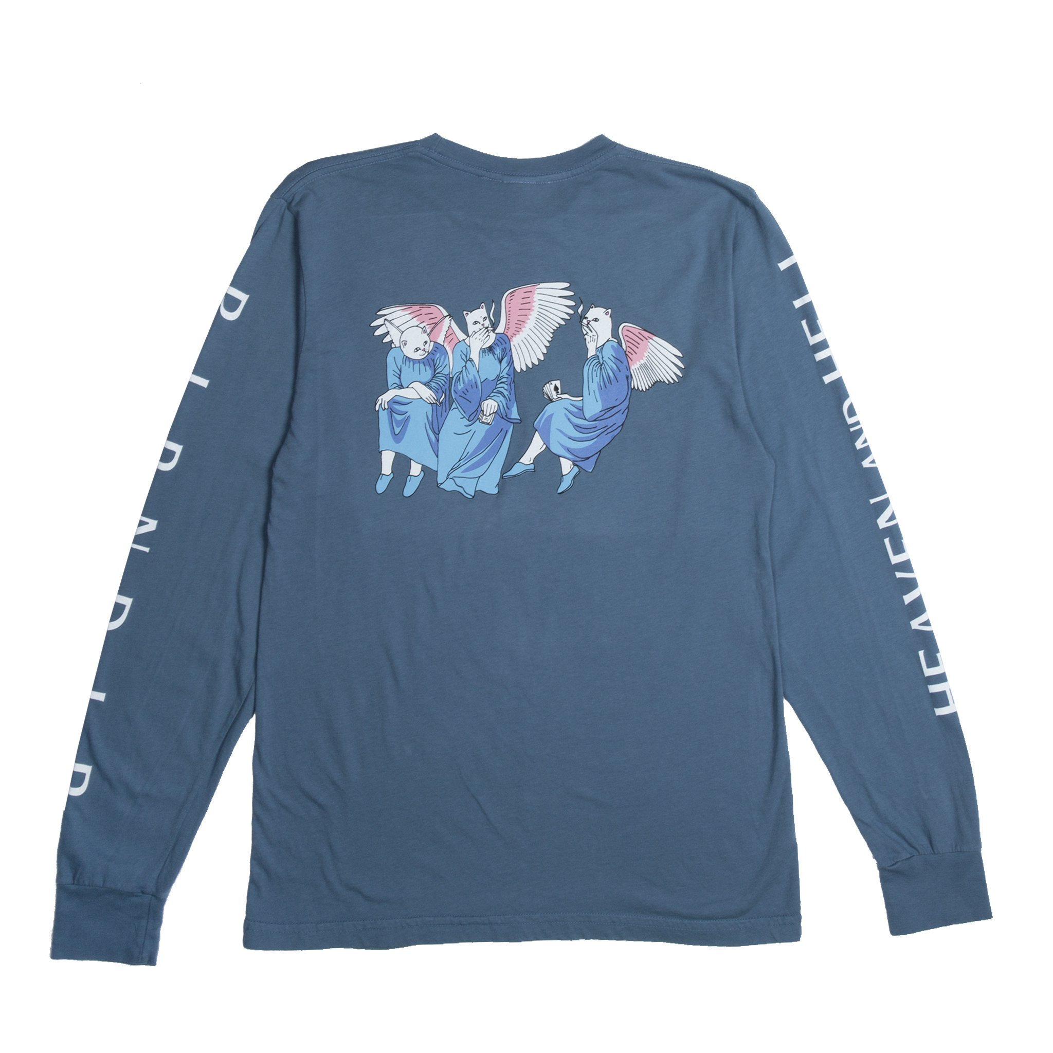 RIPNDIP リップンディップ  HEAVEN AND HELL L/S (BLUE STEEL)