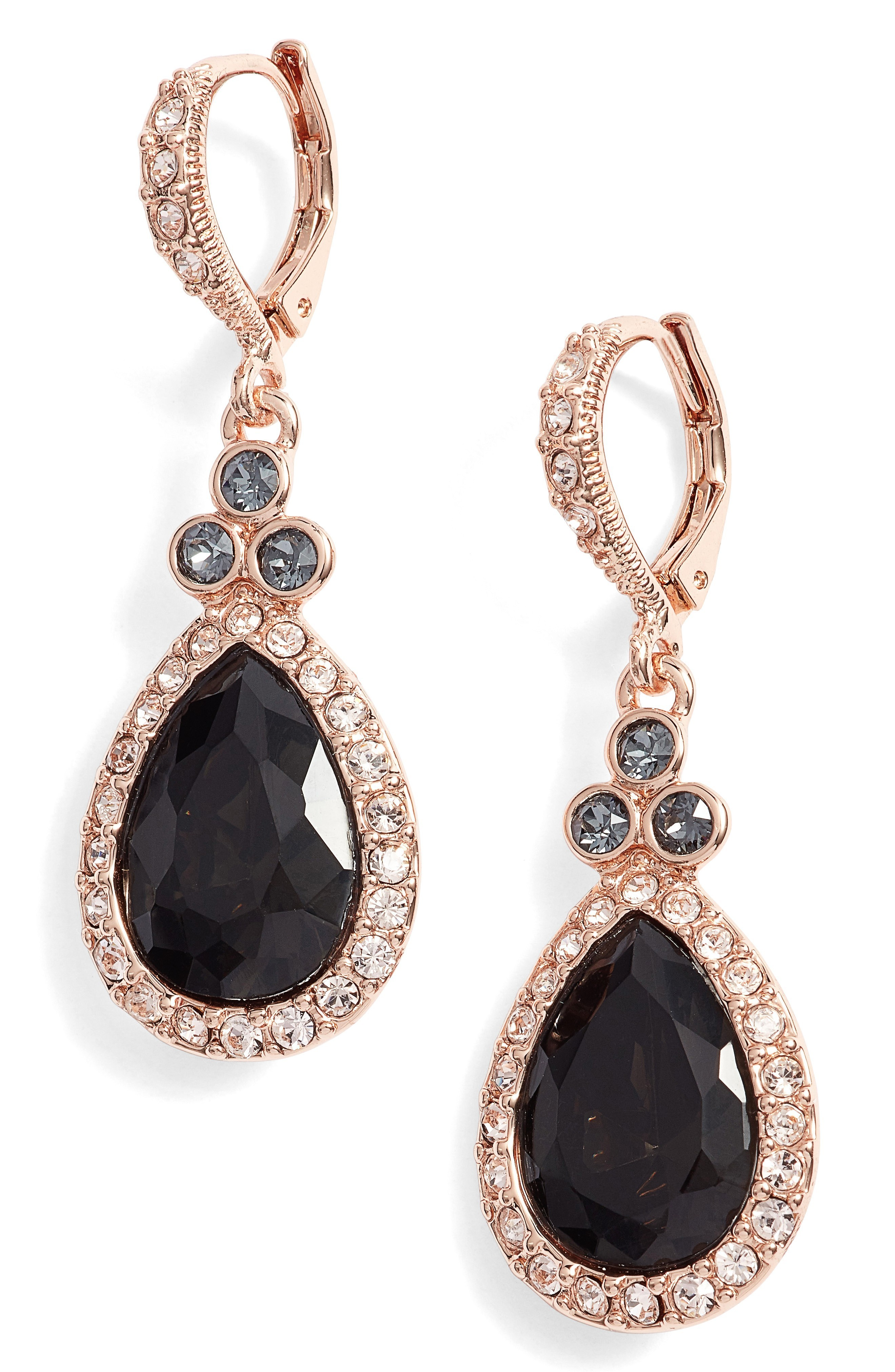 ◆GIVENCHY◆Givenchy Pave Pear Drop Earrings【関送込】