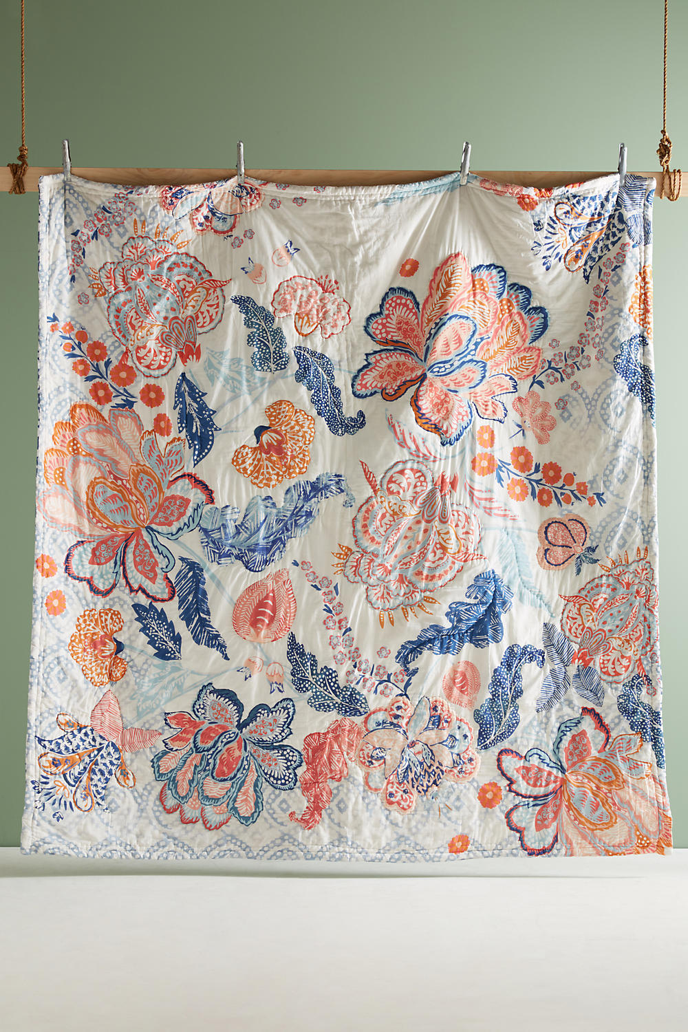 関税込 Anthropologie Carsambra Quilt キルトカバー