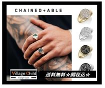 Chained & Able☆エナメルシグネット リング☆4種類☆送関込み