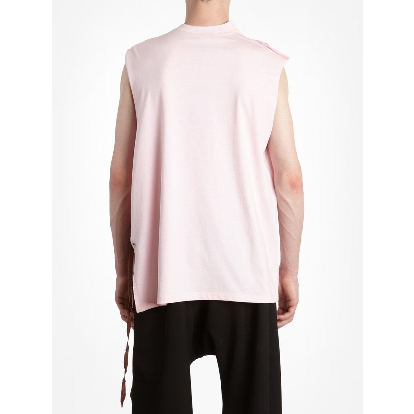 """**RAF SIMONS**2018SS""""RUNWAY*PINK TANK TOP WITH STRINGS"""