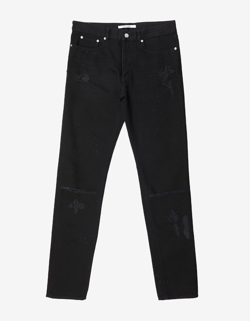 GIVENCHY☆Black Destroyed Cuban Fit Jeans