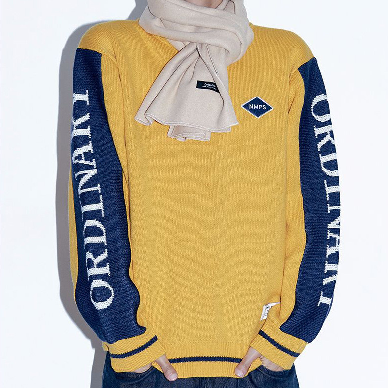 【default】TWO-TONE ORDINARY ニット (2 color) - UNISEX