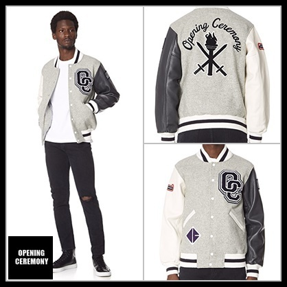【OPENING CEREMONY】Unisex Varsity Jacket gray