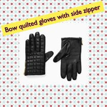 kate spade/ 手袋 / Bow quilted gloves with side zipper