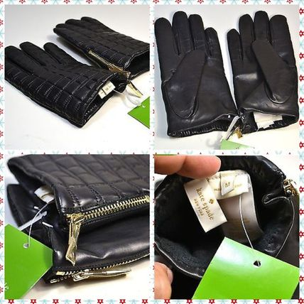 kate spade new york 手袋 kate spade/ 手袋 / Bow quilted gloves with side zipper(2)