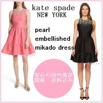 【国内発送】PEARL EMBELLISHED MIKADO DRESS セール