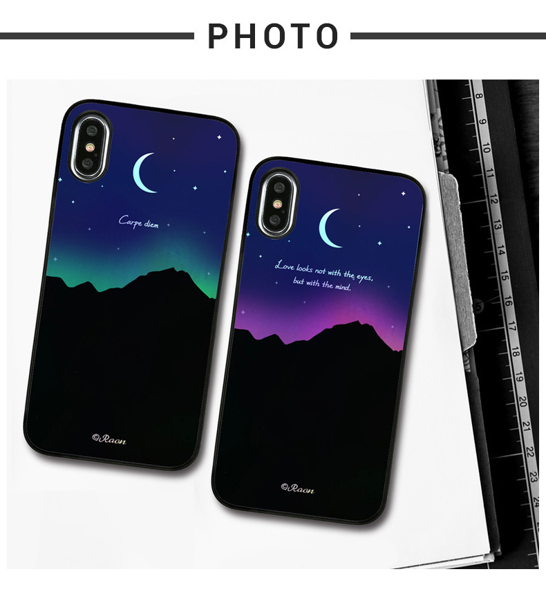 iPhone Xケース Dparks Twinkle Case オーロラムーンライト