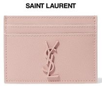 ★関税負担★SAINT LAURENT★TEXTURED-LEATHER CARDHOLDER