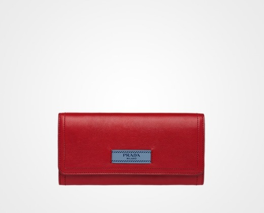 【PRADA(プラダ)】長財布 Etiquette Leather Wallet