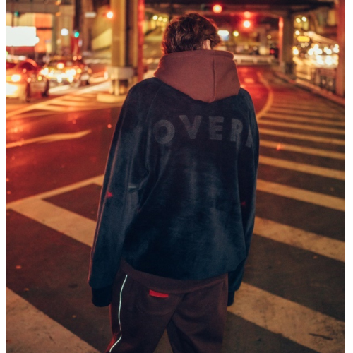 ★ OVERR★日本未入荷/SCOTCH PIPING HOODIE(BROWN)