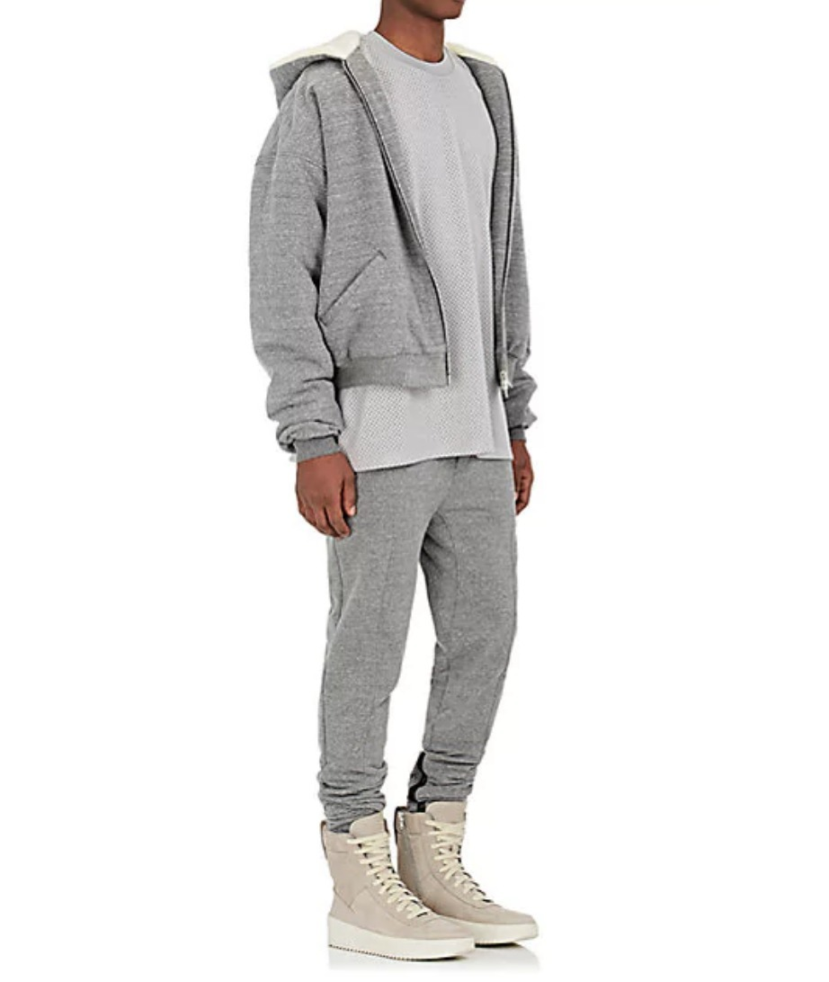 【Justin Bieber愛用】Sherpa-Lined Cotton Terry Hoodie