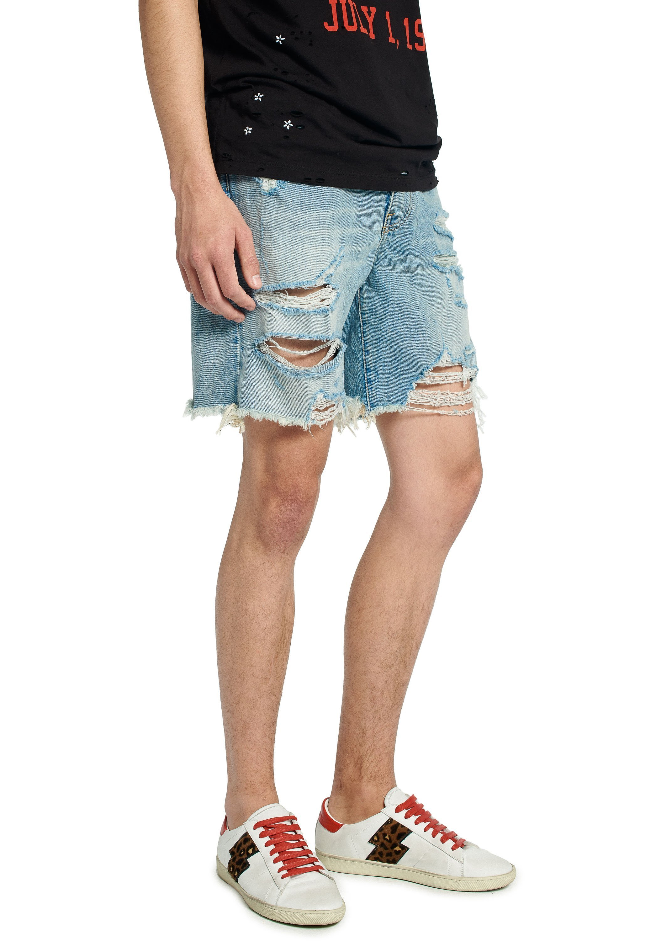 AMIRI(アミリ)☆THRASHER DENIM SHORTS MED INDIGO☆ブルー系