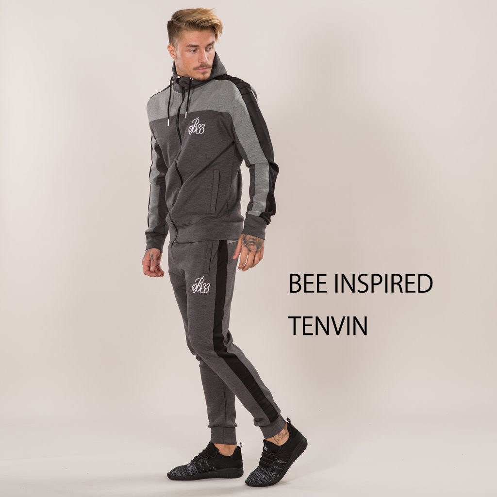 人気!BEE INSPIRED★Fiore Hooded   Grey/Black 上下セット