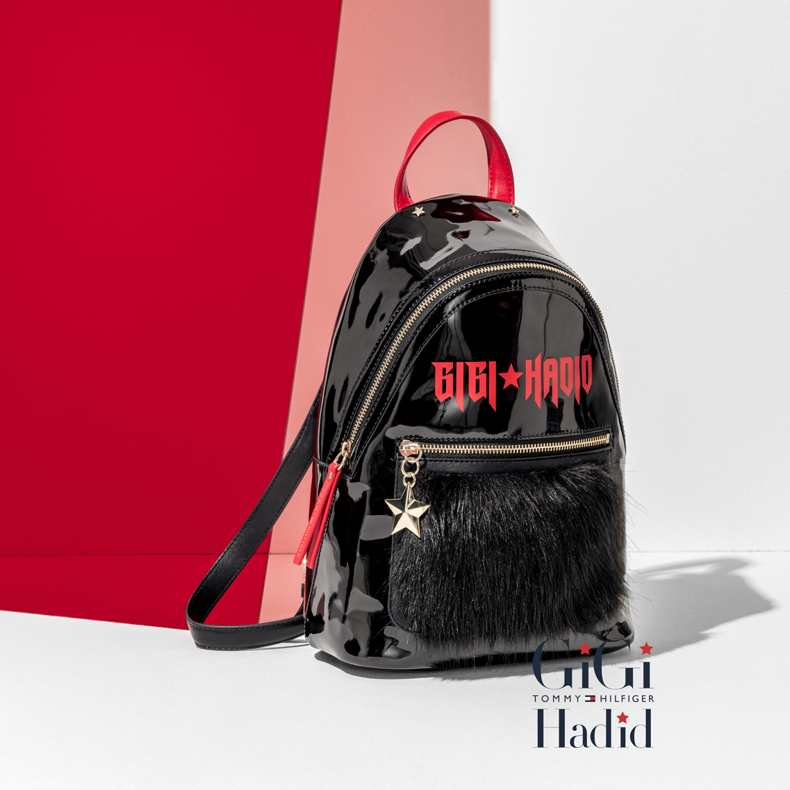 【送料込】★Tommy Hilfiger★GIGI HADID MINI MOHAIR BACKPACK