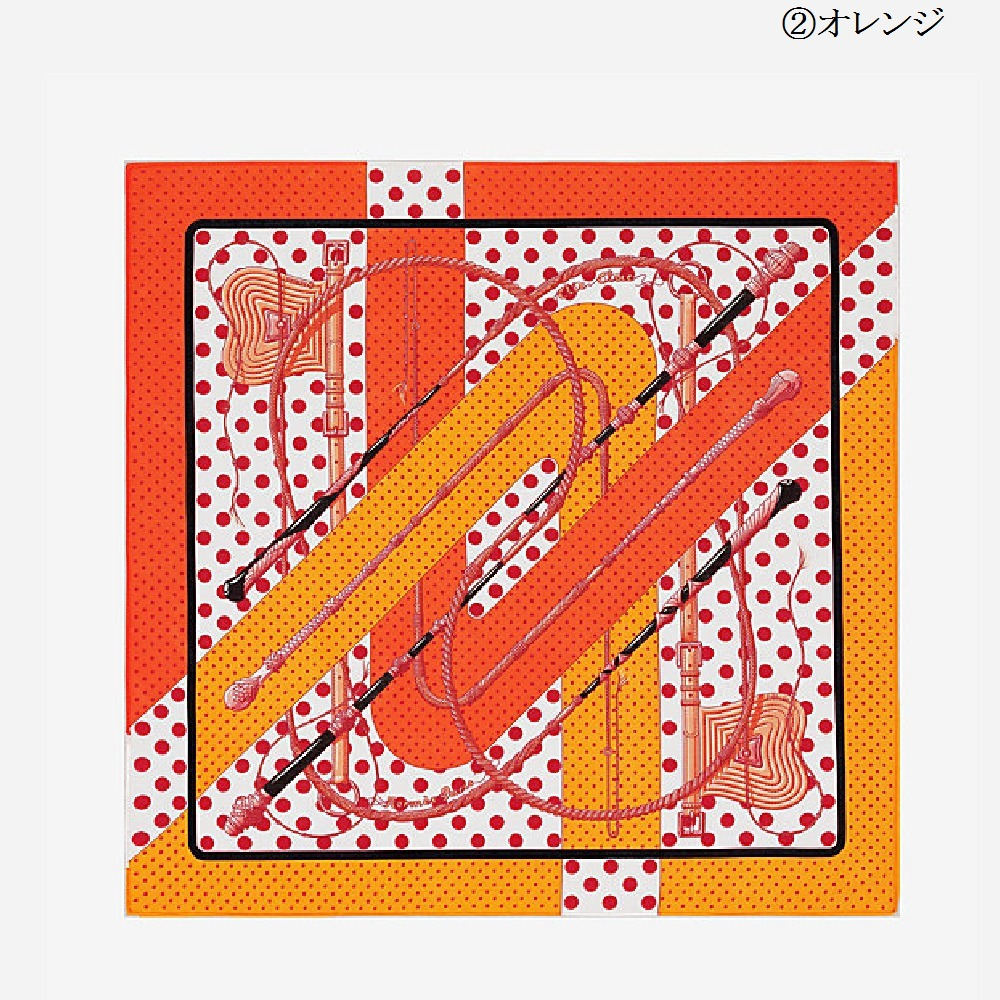 "【HERMES】""Clic Clac a Pois""プリントのおしゃれハンカチ 2色★"